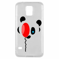Чехол для Samsung S5 Panda and red balloon