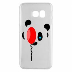 Чехол для Samsung S6 EDGE Panda and red balloon