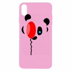 Чехол для iPhone Xs Max Panda and red balloon