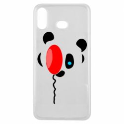 Чехол для Samsung A6s Panda and red balloon