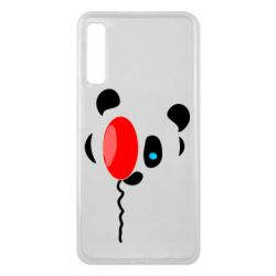 Чехол для Samsung A7 2018 Panda and red balloon