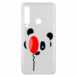 Чехол для Samsung A9 2018 Panda and red balloon