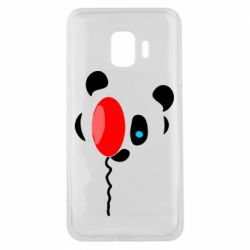 Чехол для Samsung J2 Core Panda and red balloon
