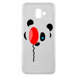 Чехол для Samsung J6 Plus 2018 Panda and red balloon