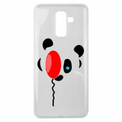 Чехол для Samsung J8 2018 Panda and red balloon