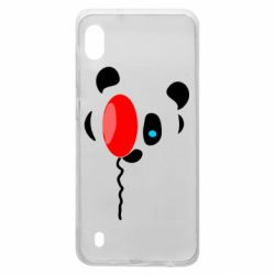 Чехол для Samsung A10 Panda and red balloon