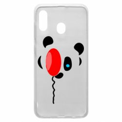 Чехол для Samsung A20 Panda and red balloon