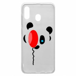Чехол для Samsung A30 Panda and red balloon