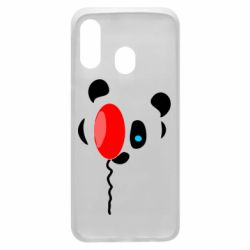 Чехол для Samsung A40 Panda and red balloon