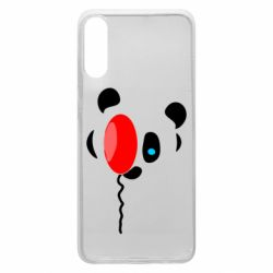 Чехол для Samsung A70 Panda and red balloon
