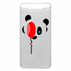 Чехол для Samsung A80 Panda and red balloon