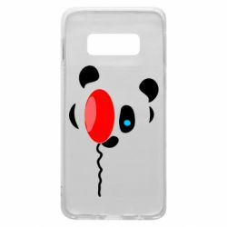 Чехол для Samsung S10e Panda and red balloon