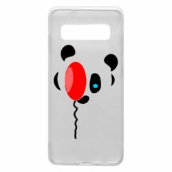 Чехол для Samsung S10 Panda and red balloon