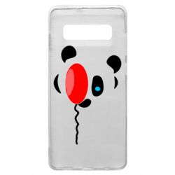 Чехол для Samsung S10+ Panda and red balloon