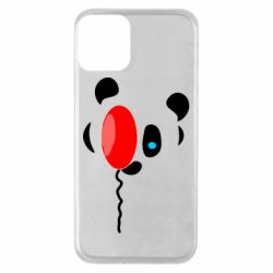 Чехол для iPhone 11 Panda and red balloon