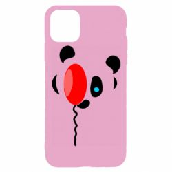 Чехол для iPhone 11 Pro Panda and red balloon