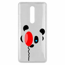 Чехол для Xiaomi Mi9T Panda and red balloon