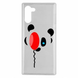 Чехол для Samsung Note 10 Panda and red balloon