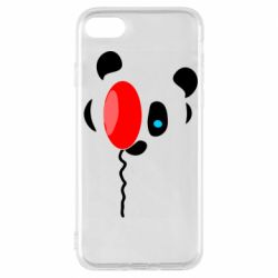 Чехол для iPhone 7 Panda and red balloon