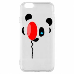 Чехол для iPhone 6/6S Panda and red balloon