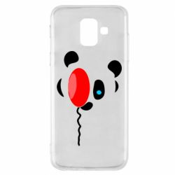 Чехол для Samsung A6 2018 Panda and red balloon