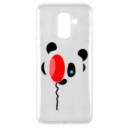 Чехол для Samsung A6+ 2018 Panda and red balloon
