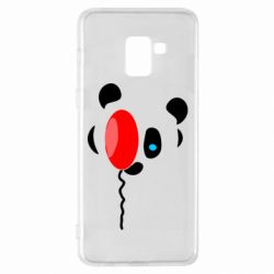 Чехол для Samsung A8+ 2018 Panda and red balloon