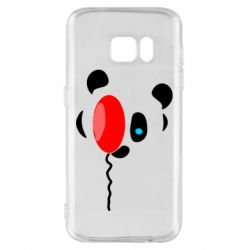 Чехол для Samsung S7 Panda and red balloon