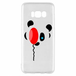 Чехол для Samsung S8 Panda and red balloon