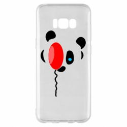 Чехол для Samsung S8+ Panda and red balloon