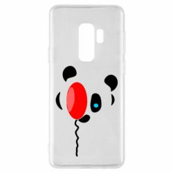 Чехол для Samsung S9+ Panda and red balloon