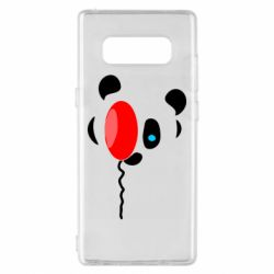 Чехол для Samsung Note 8 Panda and red balloon