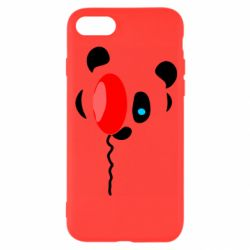 Чехол для iPhone 8 Panda and red balloon