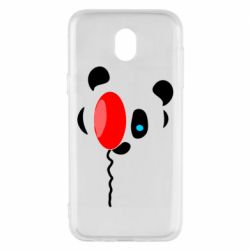 Чехол для Samsung J5 2017 Panda and red balloon