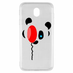 Чехол для Samsung J7 2017 Panda and red balloon