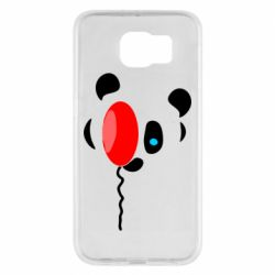 Чехол для Samsung S6 Panda and red balloon