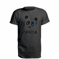 Подовжена футболка Panda blue eyes