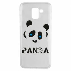 Чохол для Samsung J6 Panda blue eyes
