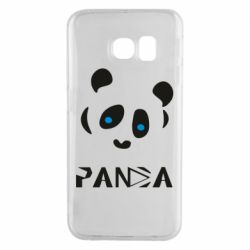 Чохол для Samsung S6 EDGE Panda blue eyes