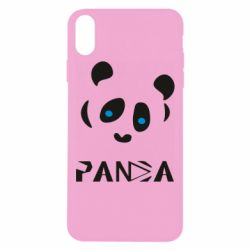 Чохол для iPhone Xs Max Panda blue eyes