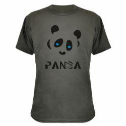Камуфляжна футболка Panda blue eyes