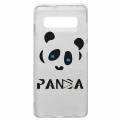Чохол для Samsung S10+ Panda blue eyes