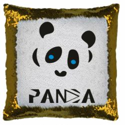 Подушка-хамелеон Panda blue eyes