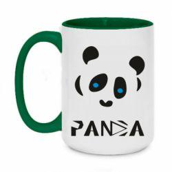 Кружка двоколірна 420ml Panda blue eyes