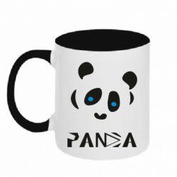 Кружка двоколірна 320ml Panda blue eyes