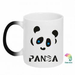 Кружка-хамелеон Panda blue eyes