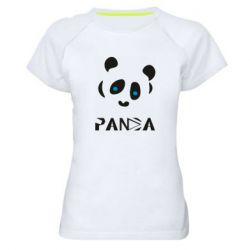Жіноча спортивна футболка Panda blue eyes