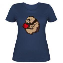 Женская футболка Panda Boxing - FatLine