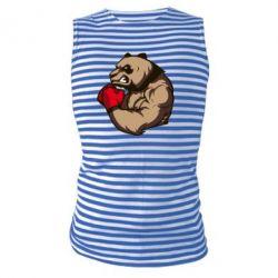 Майка-тельняшка Panda Boxing - FatLine