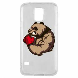Чехол для Samsung S5 Panda Boxing